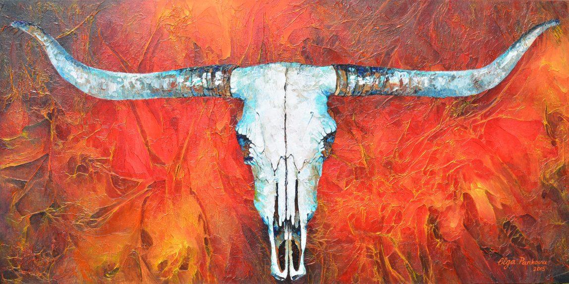 Portrait Artist Olga Pankova - Texas Longhorn